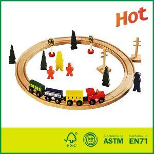 Hot Selling 24PCS Educational Kids Toy Wooden Train Track Set