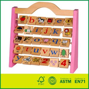 wooden alphabet rack letters Wood educational Toy for Child Children Kids Toddlers Baby Boys Girls