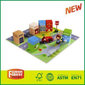 Wooden City Building Blocks Set Toys For Kids Educational Toys