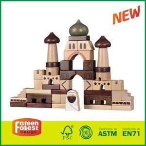 """43PCS """"Arabic Castle"""" Wooden building Blocks Set"""