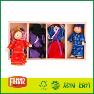 Wooden Doll Dress Up Box