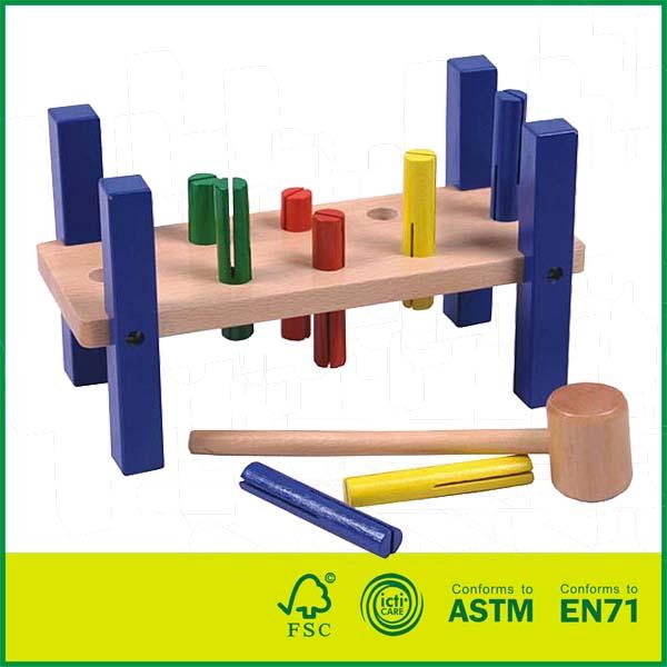 12HAM01 First Pounder Toddler Wooden Hammer Tool