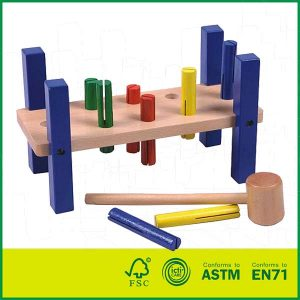 Hot Selling Wooden Hammer Strength Pounding Bench for Kids Hammer Toy