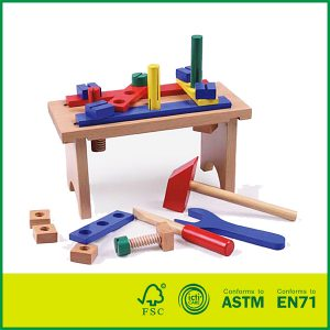 Hot Sell MDF Birch Wood Cheap Children Play Toy Wood Toy Wooden Tool Box Tool Set Toy