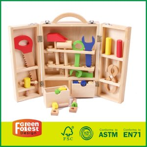 Wooden Tool Kit Set for Kids Education Wooden Tool Box