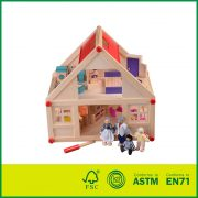 Eco-Friendly Painted Wood Decoration House Model With Cheap Doll House