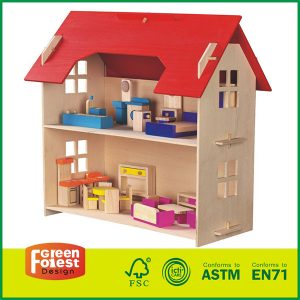 Beautiful Fun House For Girls and Boys Handcraft Construction Set With Wooden Dollhouse Kit