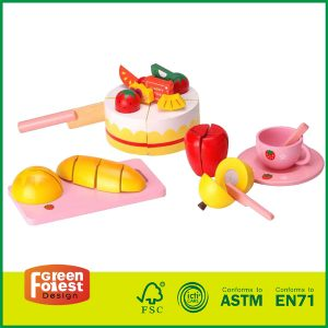 Birthday GiftsCake Toy for Kids Wooden Play Food Cutting Toy