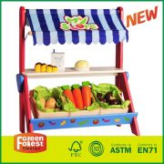 Kids Wood Food Role Play Toy With Wooden Toy Grocery Shop Store