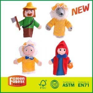 New Design Kids 4PCS Finger Puppets Set for Wooden Story Toys