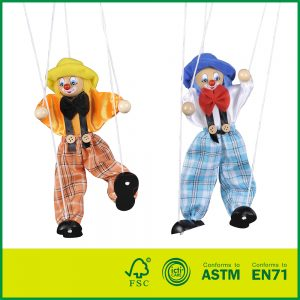New Design 10 Inch Puppet for Theatre Kids Pretend Toy Marionette Puppet