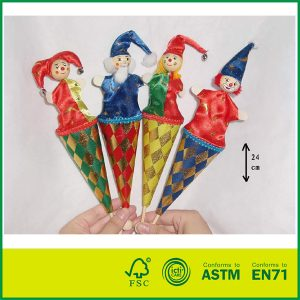 Hot Sale Wooden kids Learning Toy Wooden Pop Up Clown Puppets for Sale