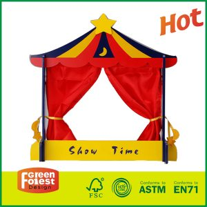Wholesale Construction Toy Wooden Puppet Theater Puppet Starge for Sale