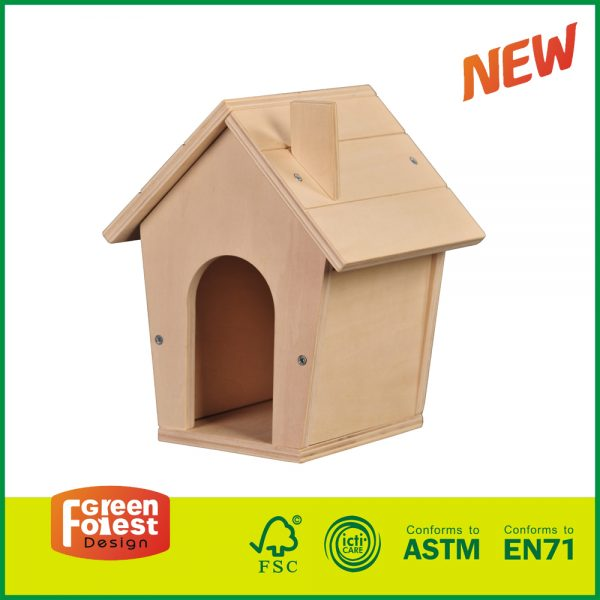 18DIY10 Build and Paint intelligent kids toys for Wood DIY Bird House pet bird toy