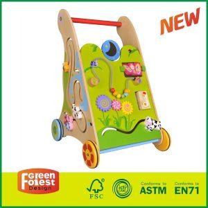 Multifunction Wooden Baby Walker Wonderful Push Toy for Kid