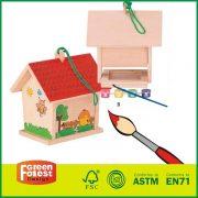 20BID02A&B New Style Kids DIY Kids Garden Toy  Woode Birdhouse Toye