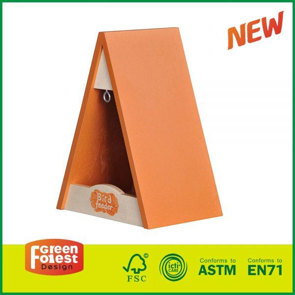 20DIS13B Hot Selling Wooden Garden Toy for Kids Children's Triangle Bird Feeder