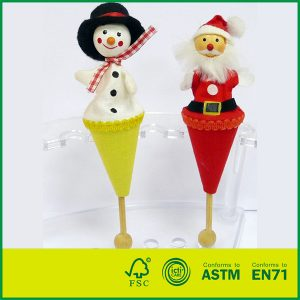 Hot Selling Wooden Children Toy Telescopic Stick Rods Doll Pop-Up Puppet