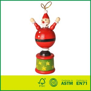 Birch Wood Push Up Toys For Kids Wooden Christmas Toys EN-71 Certified Wooden Snowman Kit
