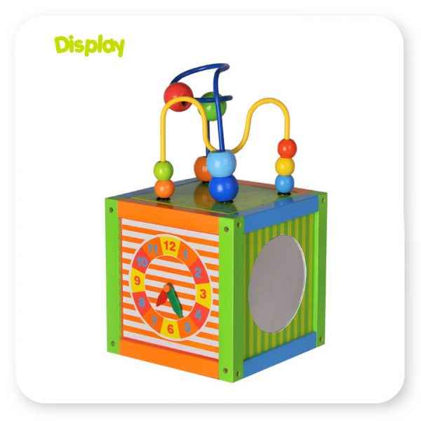 12ACT02-2 wooden activity cube