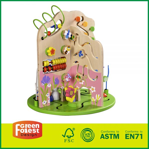 Wood Activity Center For Baby Toddler Wooden Bead Maze For Baby