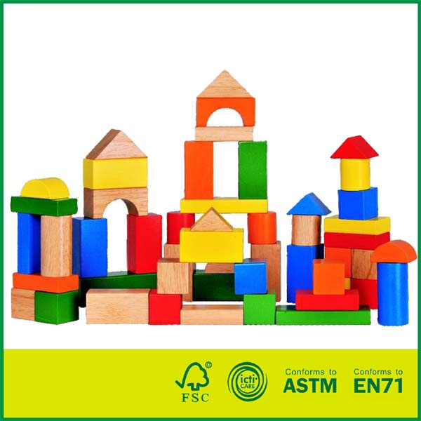 Wood Building Toys For Boys : Blk toy for toddlers preschool age hardwood colored