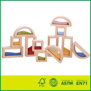 Kids Educational Toy Construction Building Sand Blocks Wooden Window Blocks
