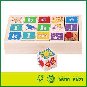 Wooden ABC Alphabet Block