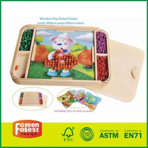 Activity Peg Board Puzzle Game Innovative Toy For Kids With Wood Peg Board