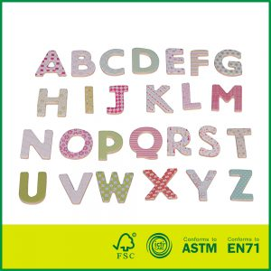 Wholesale Educational Plywood Children Play And Learn 26Pcs Wooden Toys Magnetic Alphabet Letters