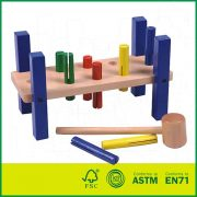 Enjoyable Wooden Pounding Bench Toy For Toddlers Pound Tap W Wood Creativecarmelina Interior Chair Design Creativecarmelinacom