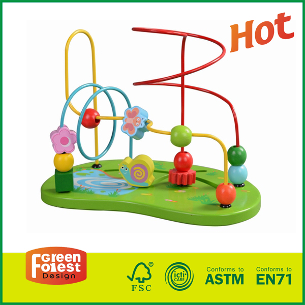 12MAZ08 wooden bead maze made in usa, wooden bead maze toy for toddlers, wooden bead maze toy,