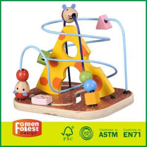 wooden bead maze roller coaster, wooden bead maze game, wooden bead mazes for toddlers,
