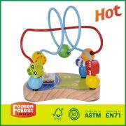 12MAZ12 bead maze wood activity block, bead maze roller coaster set, bead maze activity cube,   bead maze wooden toy,