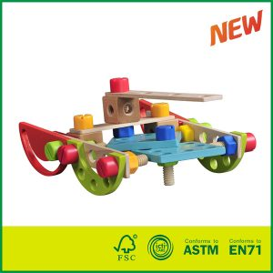 Multi Functional Wooden Nuts and Bolts Combination Toys Building Construction Set