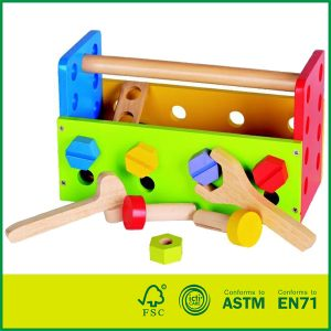 Hot Sell MDF Birch Wood Cheap Child Play Wood Toy Hands-on Ability Wooden Tool Box