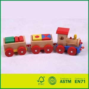 Pull Along Toys Wooden Stacking Train Set Educational Toys for Kids Toddler Toys