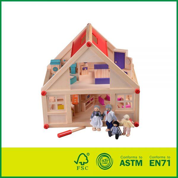wood doll house, wood doll houses for sale, wood dollhouse kits
