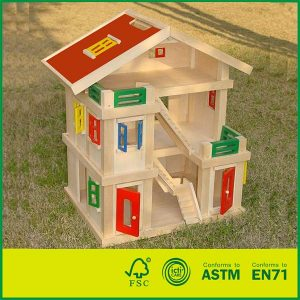 Handmade Luxury Town home Gift Set With Wooden 3 Floor Dolls House