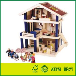 High Quality Wooden Uptown Dolls Cottage With Doll House
