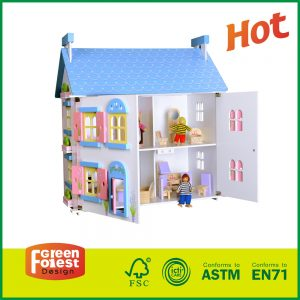 Children Indoor Furniture Storage Girl Fun Toys With Kids Wooden Cottage