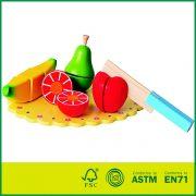 Wooden Kitchen Play Set Kids Pretend Toy Cheap Cutting Fruit Toy