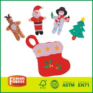 Wholesale Story Helper Sweet Christmas Gifts Santa Reindeer Puppets With Doll Finger Puppets
