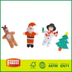 Children's Educational Toys 4 Piece Story Time Finger Puppets Set