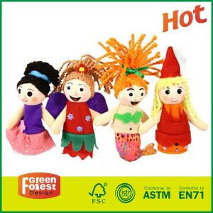 Finger Puppet Playset of 5 For Theatre Stage Play Wholesale Educational Toys