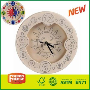 Educational Wood Toy Clock For Kids