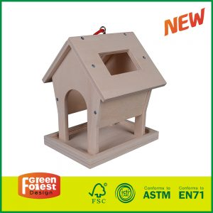 Wooden craft Educational Kid Wood DIY Bird Feeder toy