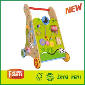 Multifunction Wooden Baby Walker Wonderful Push Toy for Kid
