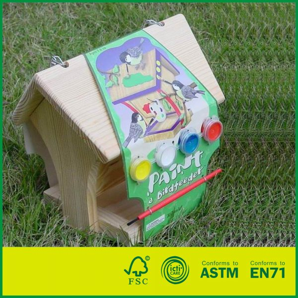 20BID01B Build and Paint Intelligent DIY Toys for Kids Pine Wood DIY Bird House
