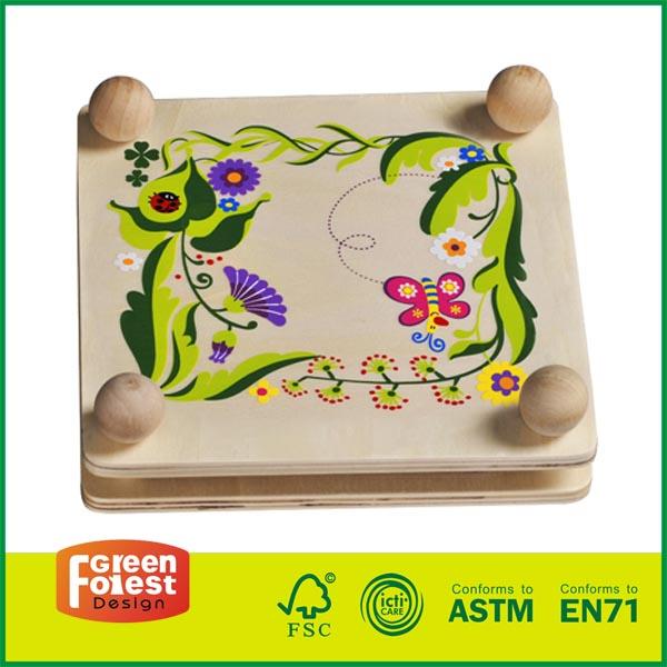 20DIS03 Hot Selling Wooden Kids Garden Toy Outdoor Flower Pressing Kit